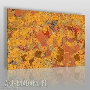 obraz na płótnie - ogród klimt 120x80 cm 62401, klimt, ogórd, kwiaty, abstrakcja