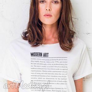 ręcznie zrobione koszulki modern art oversize t-shirt