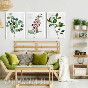 obraz drukowany na płótnie roślinki -duży format 3 części każda 50x70cm łącznie