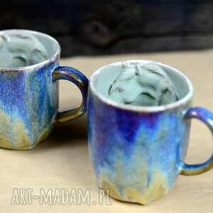 azulhorse handmade kubek ceramiczny z koniem duży opal 450 ml, ceramika