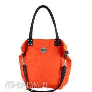 ręcznie wykonane na ramię torba worek eko-zamsz rudy