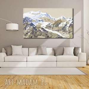 Obraz XXL GÓRY 1 -120x70cm design na płótnie widoki autorski wzór, obraz, góry, wzór
