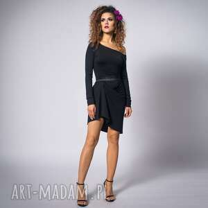 cindy - asymetryczna sukienka, asymetryczna, wygodna, dopasowana