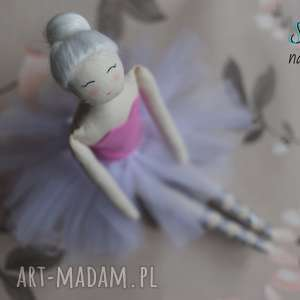 lalka #101, baletnica, balerina, szmacianka, tilda, tiulowa, bawełniana