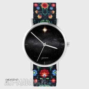 zegarek - star folk czarny, nato, zegarek, bransoletka, gwiazda
