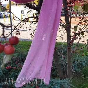 hand-made szaliki różowa mgiełka