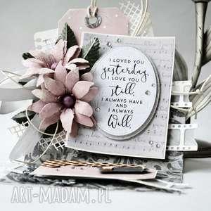 I LOVED YOU - kartka sztalugowa w pudełku, życzenia, wyznanie, zaręczyny, ślub