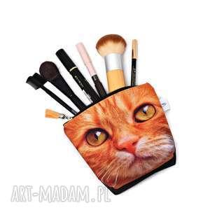 Kosmetyczka kot, saszetka kotek, wodoodporna z kotem, duża