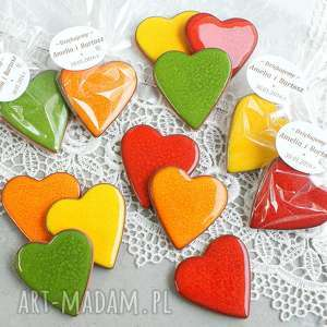 zamówienie specjalne, magnes, serce, kolorowe, wesołe magnesy