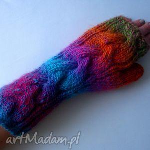 handmade rękawiczki multikolor