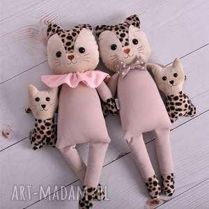 hand-made maskotki rodzina kotów - 4 elementy