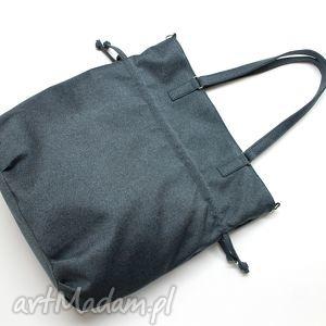 Prezent SHOPPER BAG SACK - tkanina granat, hobo, sack, shopper, handmade, prezent