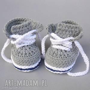 buciki trampki stanford, buciki, prezent, oryginalne, niemowlęce, szydełkowane