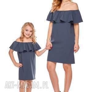 mama i córka sukienka hiszpanka dla córki ld9 1 - falbana, sukienka, mama