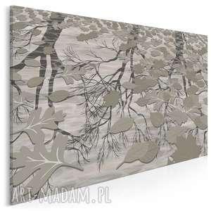 obraz na płótnie - jesień liście deszcz beżowy 120x80 cm 96001
