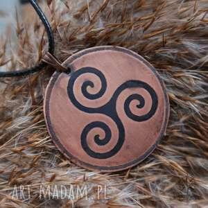wisior z trawionej miedzi - celtycki triskel - celtycki, wisior, triskel, celtycka