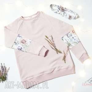 handmade komplet bluza opaska dla dziewczynki rozmiar 128/134