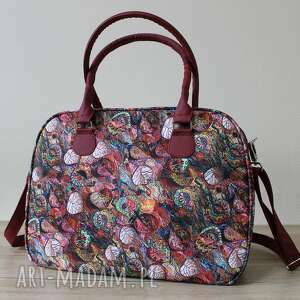 Kuferek - jesienny melanż na ramię torebki niezwykle kufer