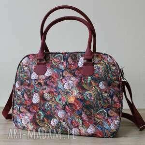 kuferek - jesienny melanż, kufer, kuferek, liście, pakowna, elegancka, prezent