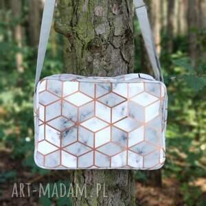 na ramię single bag - marmurek, elegancka, nowoczesna, marmur, geometryczne