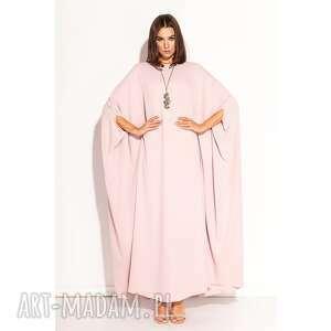 sukienka laura, pudrowa, onesize, oversize, luźna, tuba, niespotykana, unikalny