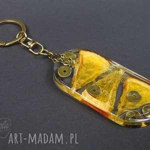 0146~mela duży brelok do kluczy z żywicy pomarańcz, brelok, do-kluczy, żywica