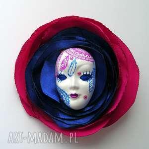 broszka z kolekcji masquerade - dreamcatcher - łapacz, snów, maska, dreamcatcher