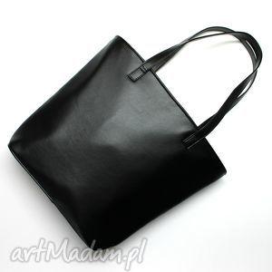 torebki niezwykle shopper bag bucket - czarny, elegancka, nowoczesna, prezent, święta