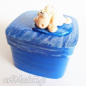 hand-made pudełka pudełko biała owca