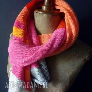 Energetyczny szal szaliki the wool art szal, szalik, kolorowy