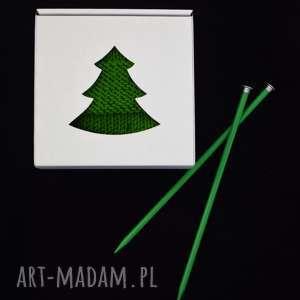 na prezent - szal zielony z frędzlami - szal, szalik, frędzle, prezent, choinka