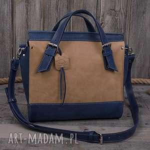 darkness gallery ręcznie robiona skórzana torebka niebieska, skórzane torby