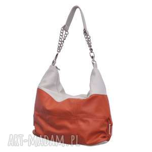 na ramię 05-0008 torebka pomarańczowa z łańcuszkiem falcon, markowe-torebki