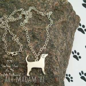 angielski foxhound srebro próby 925 naszyjnik nr 96, foxhound