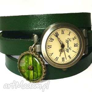 egginegg hobbit - zegarek bransoletka na skórzany pasku - pierścieni