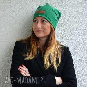 zielona ciepła czapka jelonek unisex - czapka, prezent, unisex, jelonek, beanie