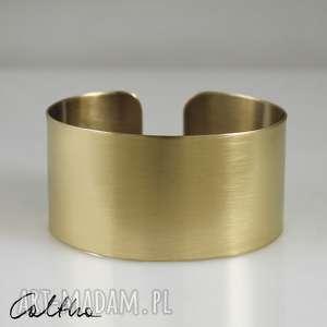 satyna - mosiężna bransoletka, bransoleta, szeroka, mosiężna, metalowa