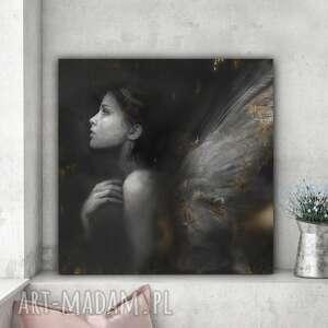 obraz na płótnie anielica autorstwa krzanooart 100x100 cm, obraz, plakat, anioł