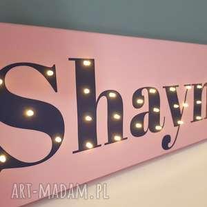 Napis led twoje imię obraz dekoracja lampka personalizowany