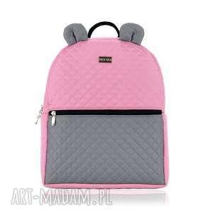 ręcznie wykonane plecaki plecaczek farbiś 703 różowo-szary r. m