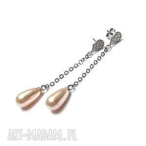Creme brulee vol. 2 -kolczyki, srebro, oksydowane, perły, swarovski, cyrkonie,