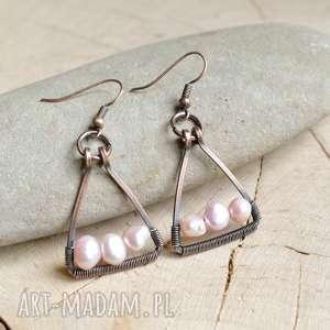 lady - kolczyki z perłami rzecznymi, wiszące