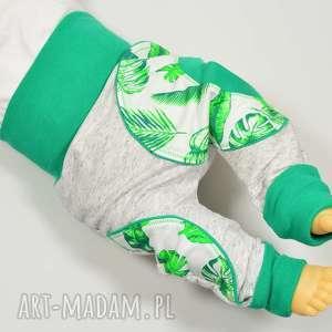 Liście spodnie baggy dla dziewczynki, chłopca, bawełniane, 62