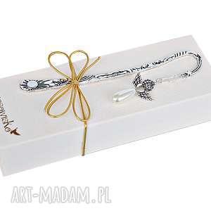 Prezent Elegancki Anioł - zakładka w pudełku, zakładka, anioł, aniołek, blask