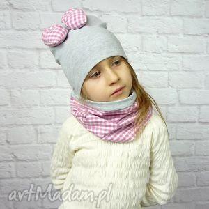 bukiet-pasji cienki komplet dla dziewczynki czapka komin - dziewczynka