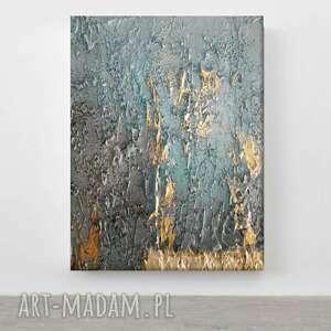 turquoise accent - wielkoformatowy obraz na płótnie abstrakcyjny art