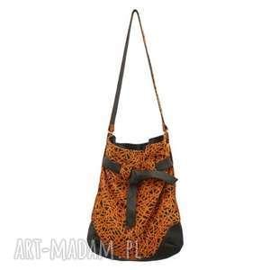 na ramię 12-0009 pomarańczowa torba worek xxl torebka zakupy sparrow maxi