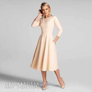 sukienki sukienka klara 3/4 total midi vanillia