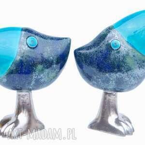 ceramika oto szdoki, niebieskie, ptaki, ceramika, figurki, zwierzątka