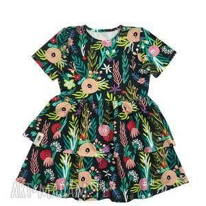 Kwiecista sukienka cudi kids sukienka, kwiaty, falbanki